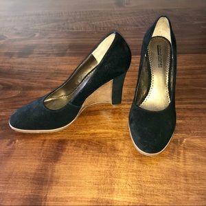 Donald J. Pliner Heather Black Wedge Heels